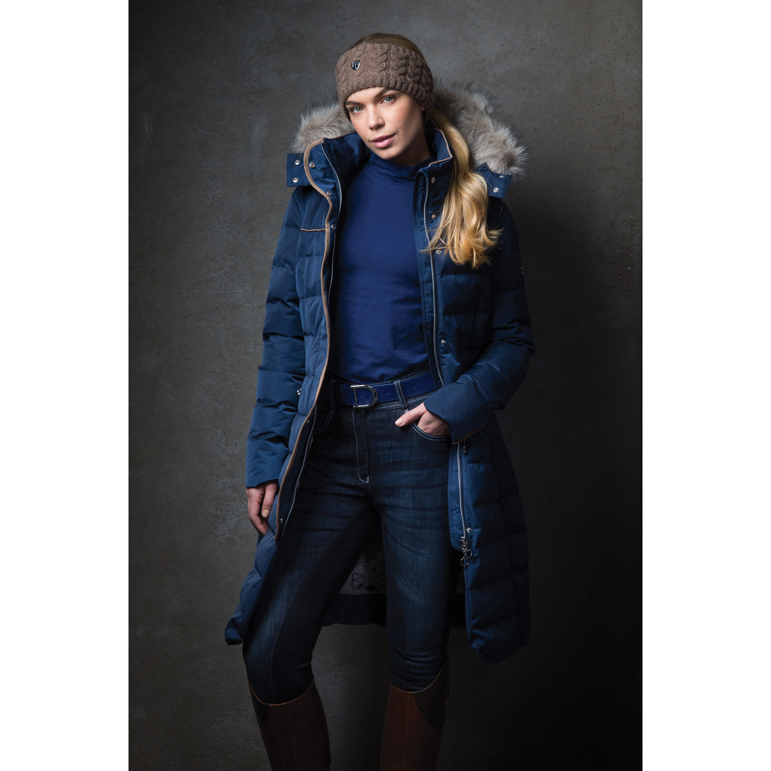 Equetech Womens Rowant Long Quilted Coat  - Thomas Irving's equestrian and accessories store  Equetech Womens Rowant Long Quilted Coat
