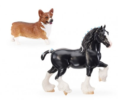 Breyer Classics Best Of British - Shire & Corgi Set