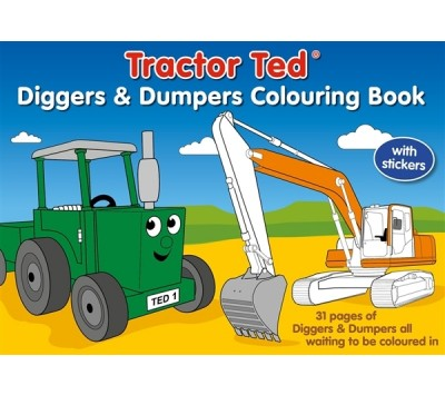 Tractor Ted Diggers and Dumpers Colouring Book