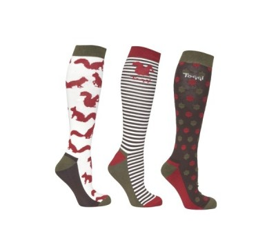 Toggi Harwood Ladies Three Pack Socks