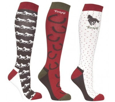Toggi Hebden Ladies Three Pack Socks