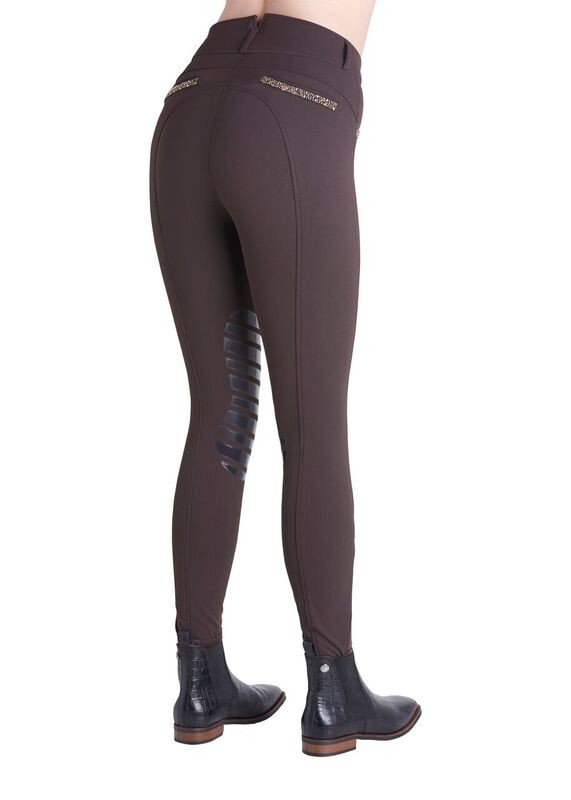Montar Debra Yati Stone Silicone Knee Womens Breeches  - Thomas Irving's equestrian and accessories store  Montar Debra Yati Stone Silicone Knee Breeches