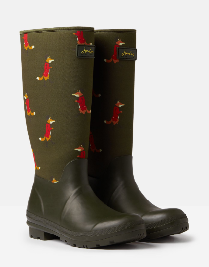 Joules Neoprene Printed Tall Wellies  - Thomas Irving's equestrian and accessories store  Joules Neoprene Printed Tall Wellies