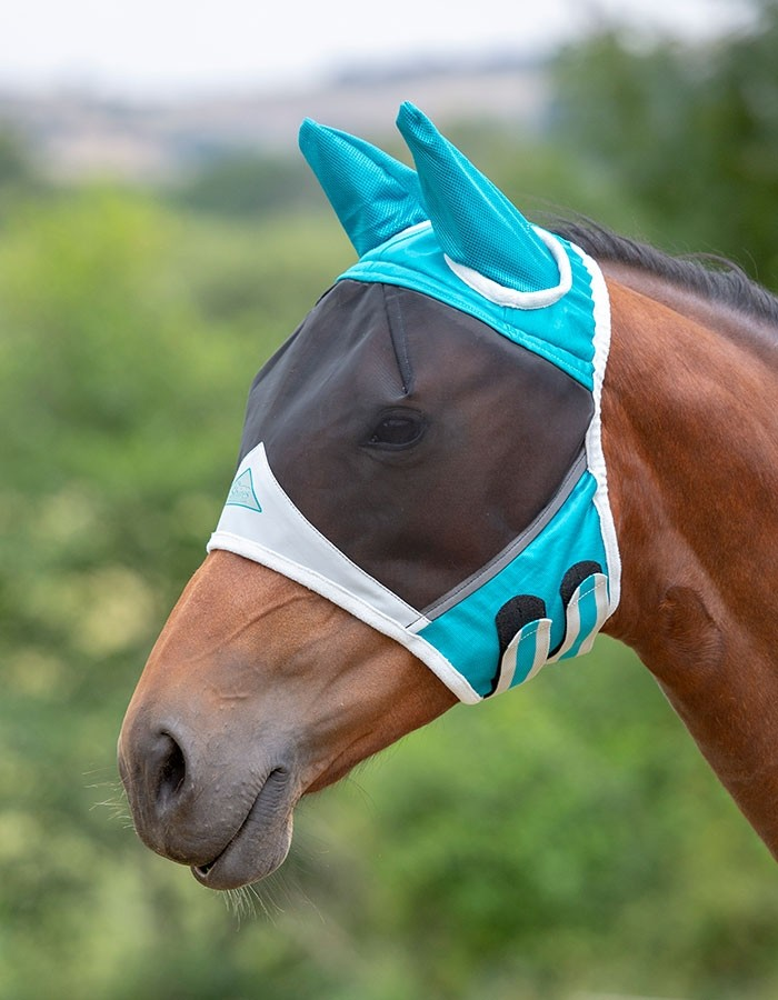 Shires Fine Mesh Fly Mask with Ears  - Thomas Irving's equestrian and accessories store  Shires Fine Mesh Fly Mask with Ears