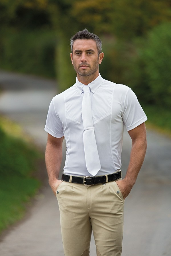 Shires Gents Short Sleeve Tie Shirt  - Thomas Irving's equestrian and accessories store  Shires Gents Short Sleeve Tie Shirt