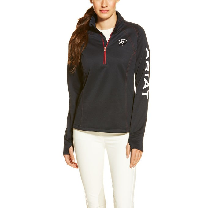 Ariat Womens Tek Team 1/4 Zip Pullover  - Thomas Irving's equestrian and accessories store  Ariat Womens Tek Team 1/4 Zip Pullover