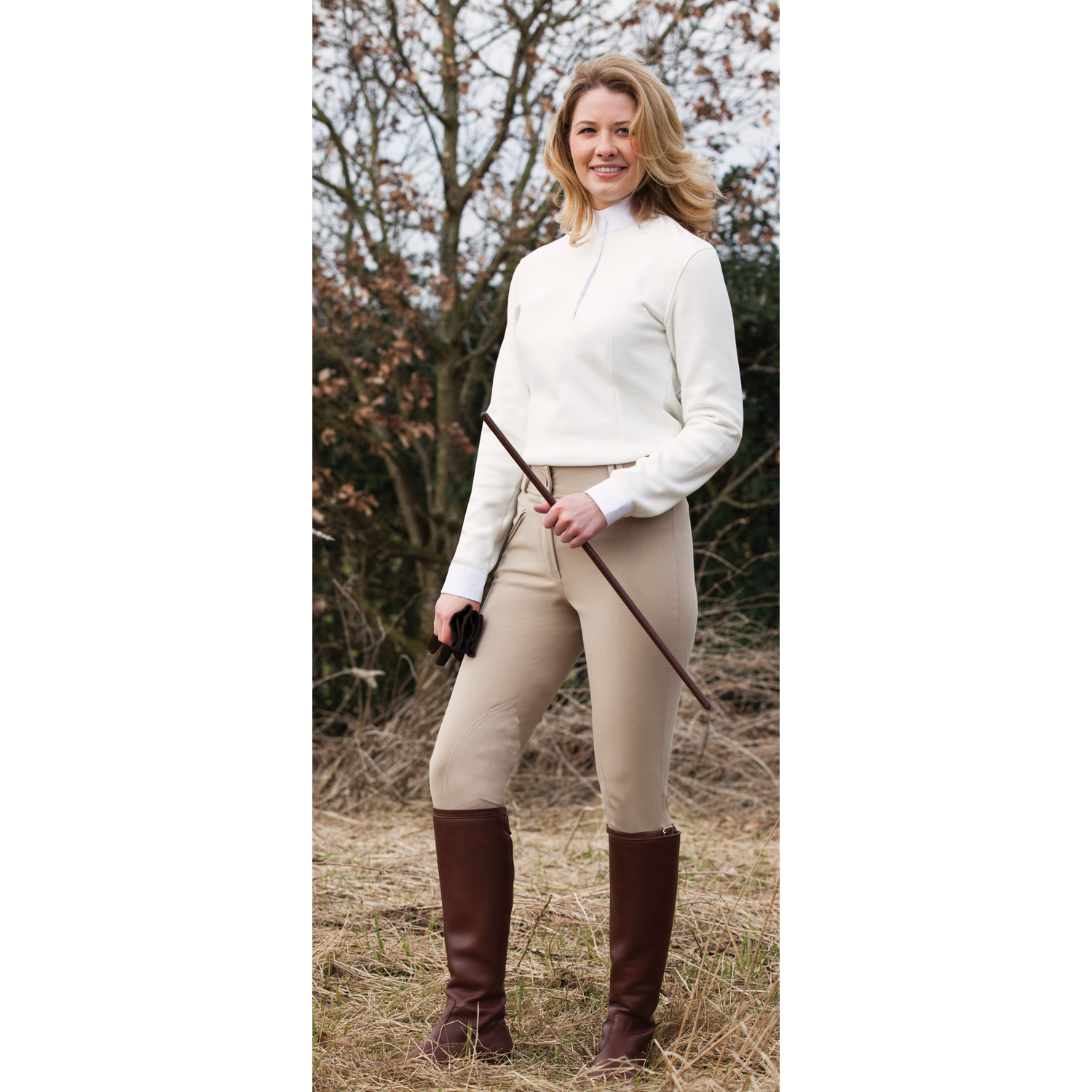 Equetech Ladies Foxhunter Hybrid Breeches  - Thomas Irving's equestrian and accessories store  Equetech Ladies Foxhunter Hybrid Breeches