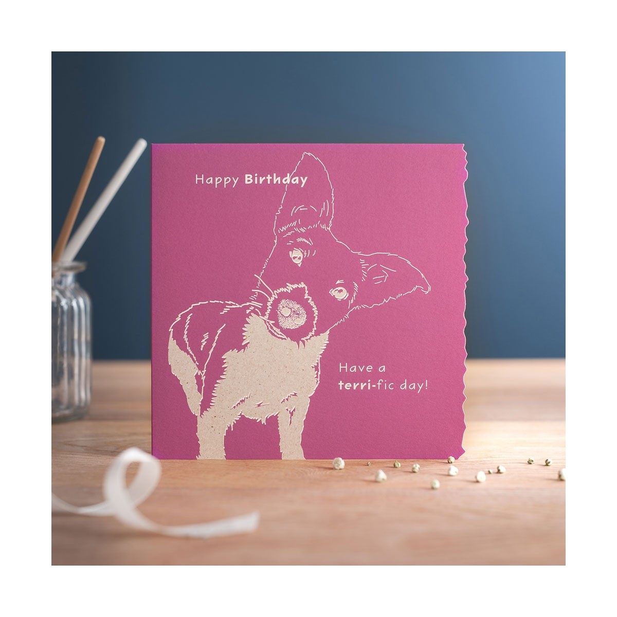 Deckled Edge Colour Block Card  - Thomas Irving's equestrian and accessories store  Deckled Edge Colour Block Card