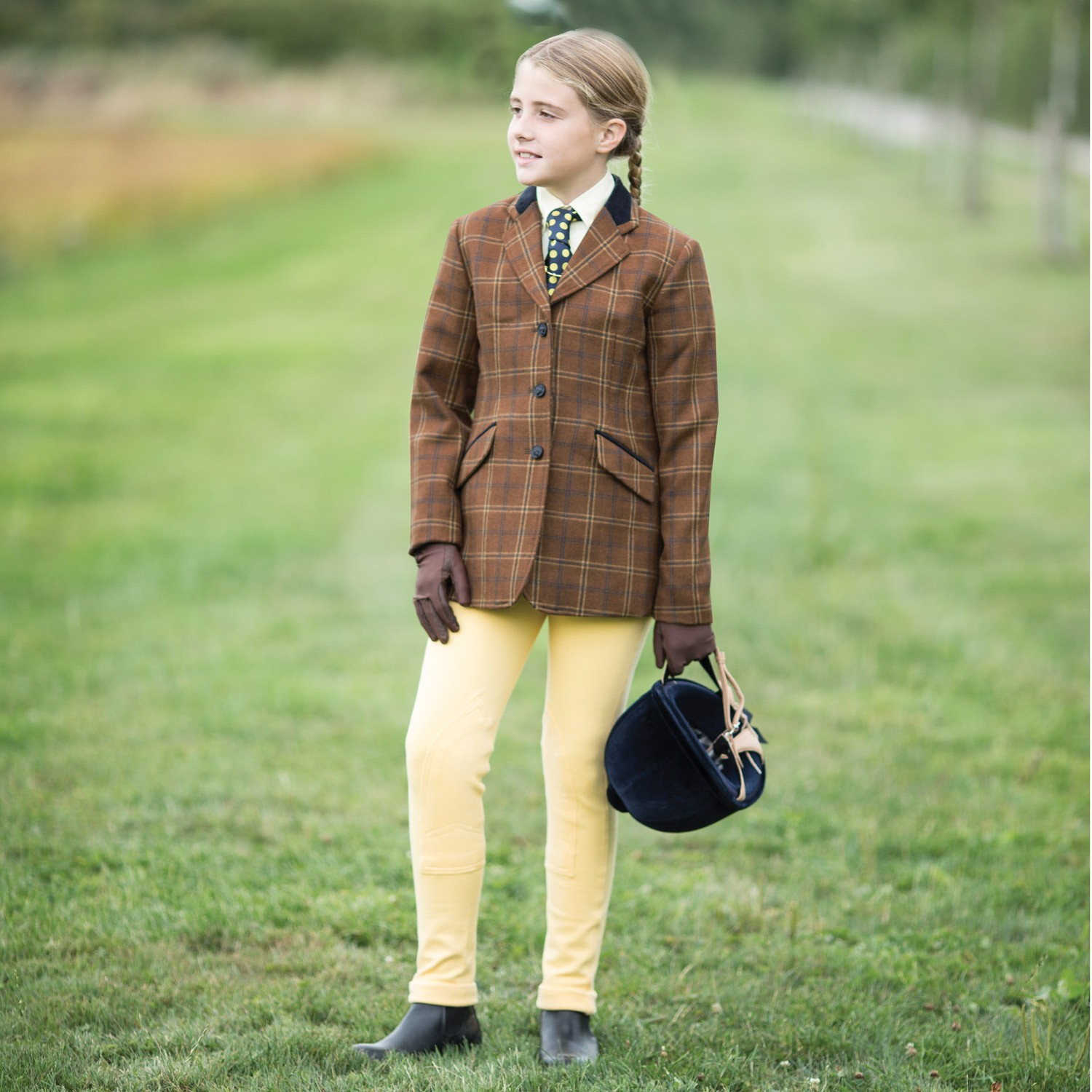 Equetech Junior Marlow Deluxe Tweed Jacket  - Thomas Irving's equestrian and accessories store  Equetech Junior Marlow Deluxe Tweed Jacket