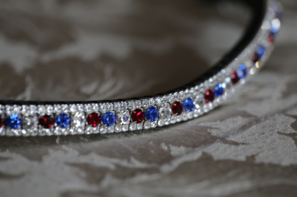 Equiture GBR Alternating Curve Browband  - Thomas Irving's equestrian and accessories store  Equiture GBR Alternating Curve Browband