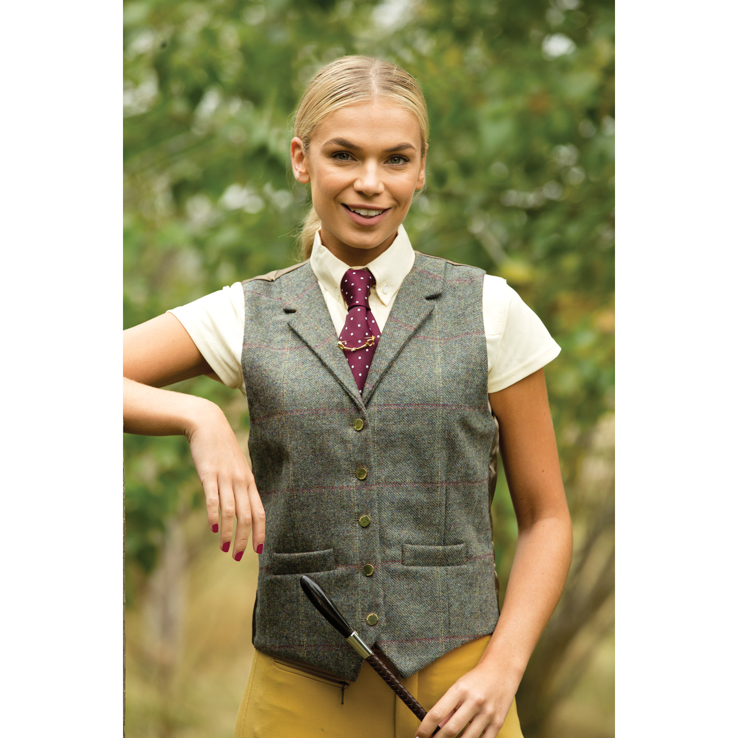 Equetech Womens Fen Lapel Tweed Waistcoat  - Thomas Irving's equestrian and accessories store  Equetech Womens Fen Lapel Tweed Waistcoat