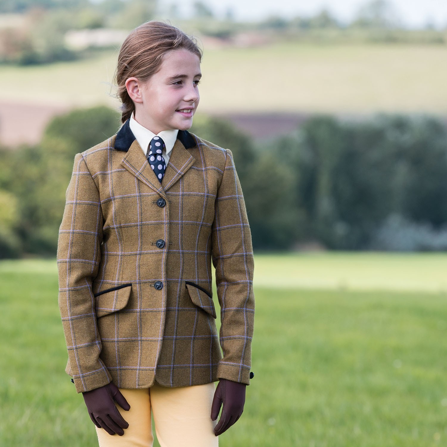 Equetech Junior Studham Deluxe Tweed Riding Jacket  - Thomas Irving's equestrian and accessories store  Equetech Junior Studham Deluxe Tweed Riding Jacket