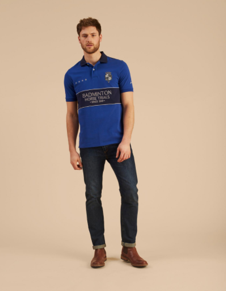 Joules Official Badminton Mens Polo  - Thomas Irving's equestrian and accessories store  Joules Official Badminton Mens Polo