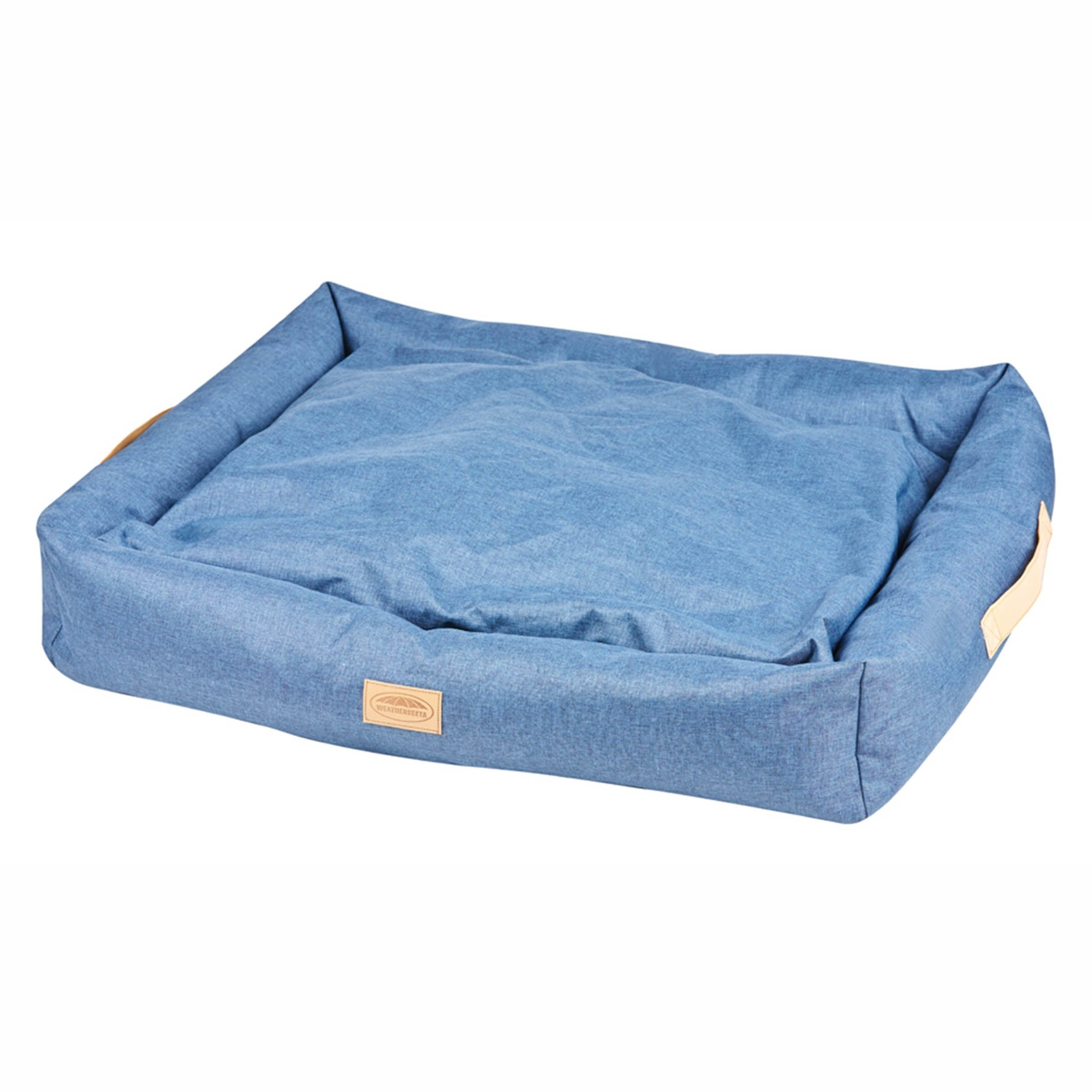 Weatherbeeta Square Denim Dog Bed  - Thomas Irving's equestrian and accessories store  Weatherbeeta Square Denim Dog Bed