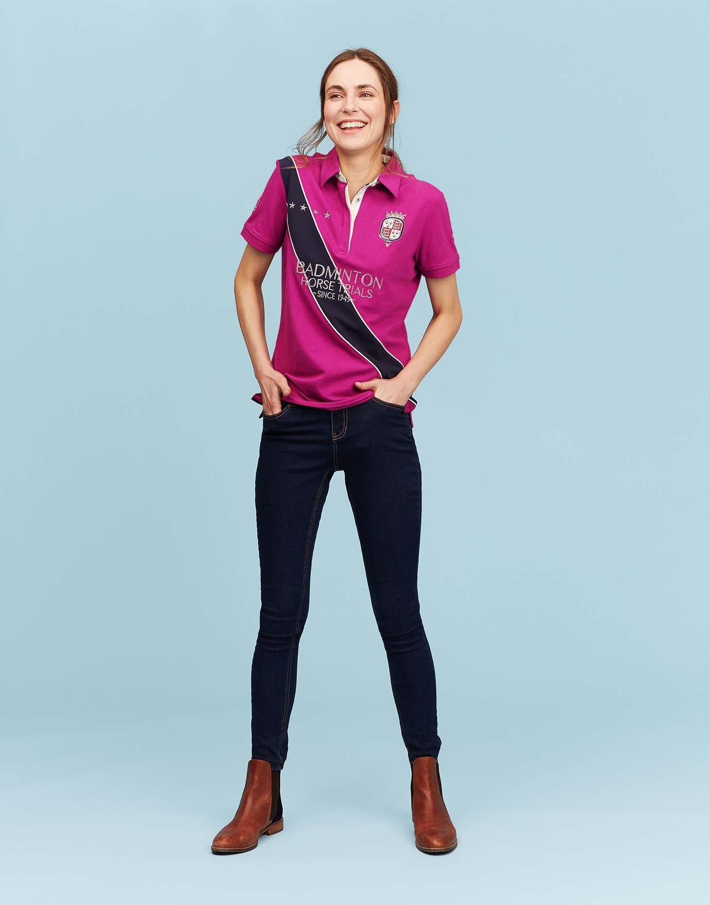 Joules Official Badminton Ladies Polo  - Thomas Irving's equestrian and accessories store  Joules Official Badminton Ladies Polo