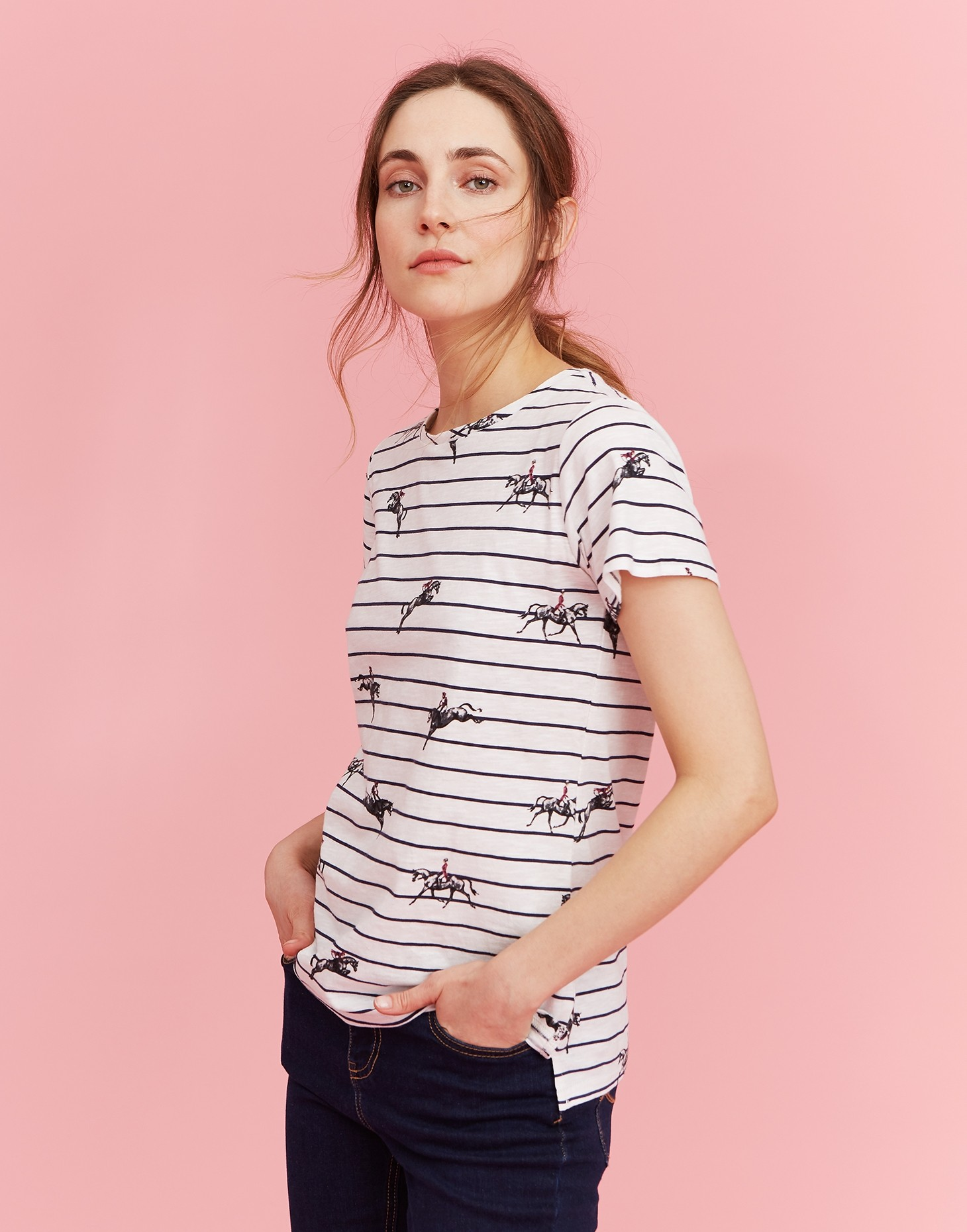 Joules Official Badminton T-Shirt  - Thomas Irving's equestrian and accessories store  Joules Official Badminton Ladies T-Shirt