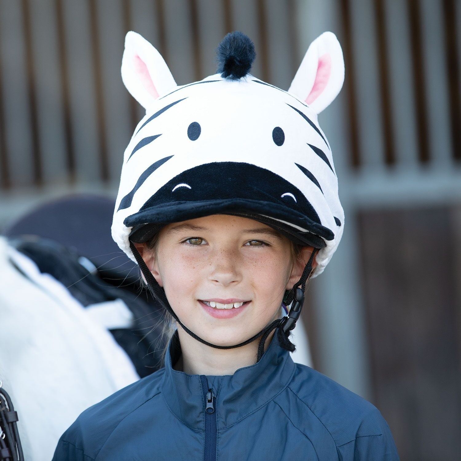 Equetech Zebra Hat Silk  - Thomas Irving's equestrian and accessories store  Equetech Zebra Hat Silk