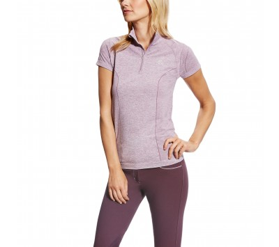 Ariat Womens Odyssey Seamless Short Sleeve 1/4 Zip