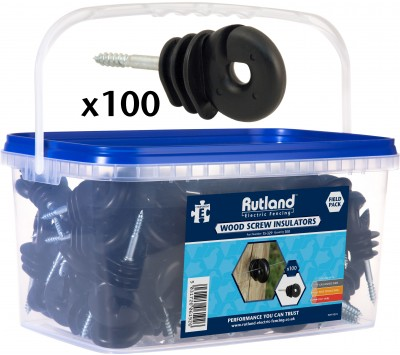 Rutland Wood Screw Insulator Pack of 100