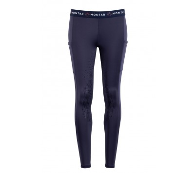 Montar Kaylee Logo Waist Full Grip Pull On Breeches
