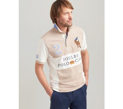 Joules Mens Clifton Embellished Classic Fit Polo
