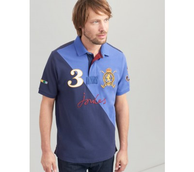 Joules Mens Embellished Classic Fit Polo