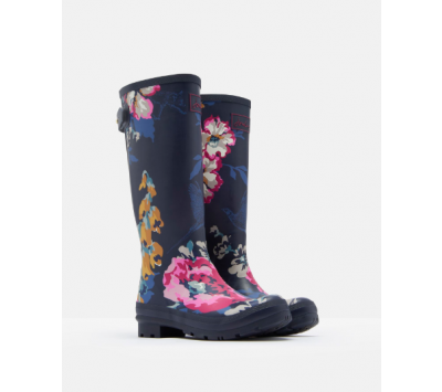 Joules Adjustable Back Print Welly