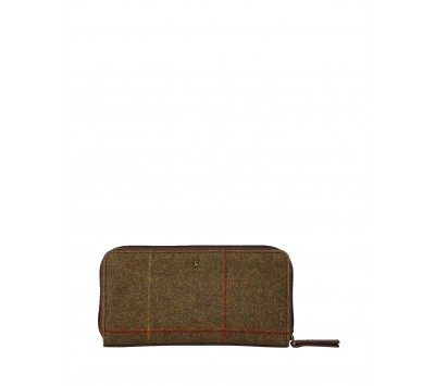 Joules Fairford Tweed Zip Round Purse