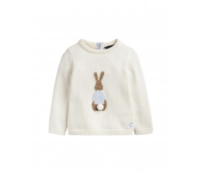 Joules Girls Ivy Intarsia Knitted Jumper