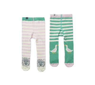 Joules Baby Anikins 2 Pack Tights