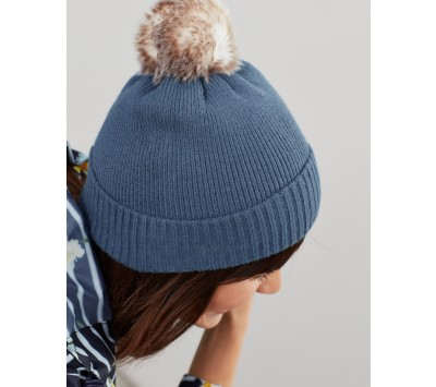 Joules Snowday Knitted Bobble Hat