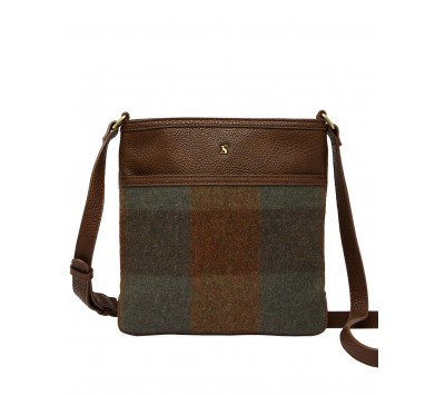Joules Uxhall Tweed Small Cross Body Pouch Bag