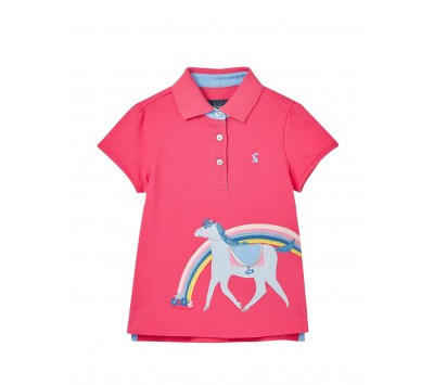 Joules Girls Moxie Applique Polo