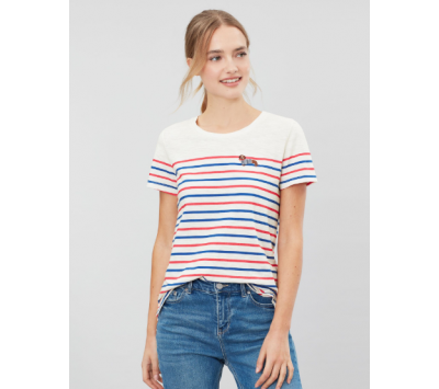 Joules Carley Embroidered Classic Crew Top