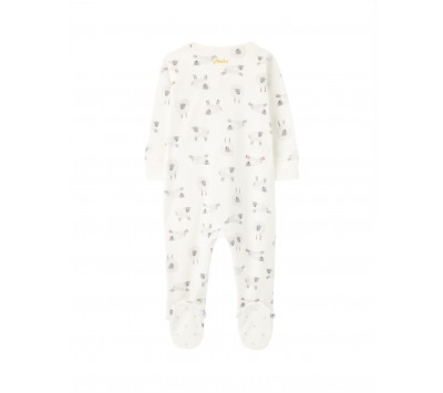 Joules Baby Organically Grown Cotton Zip Babygrow