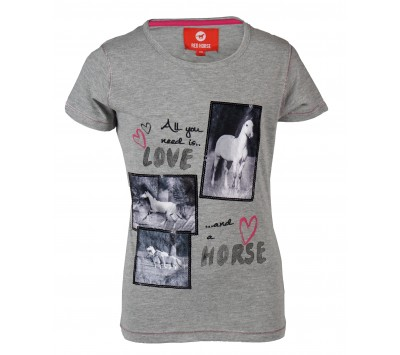 Red Horse Girls T-Shirt with Print