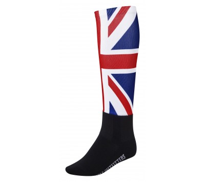 Noble Outfitters Womens Over the Calf Peddies - Union Jack