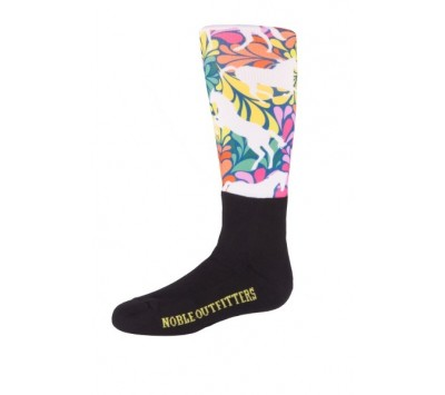 Noble Outfitters Girls Over the Calf Peddies - Flower Power Horse
