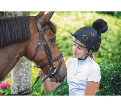 Shires Diamante Star Hat Cover
