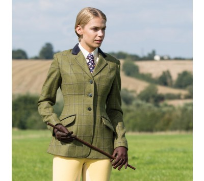 Equetech Womens Adstock Deluxe Tweed Riding Jacket