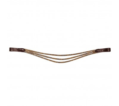 Caldene Vintage Gold Triple Wave Browband