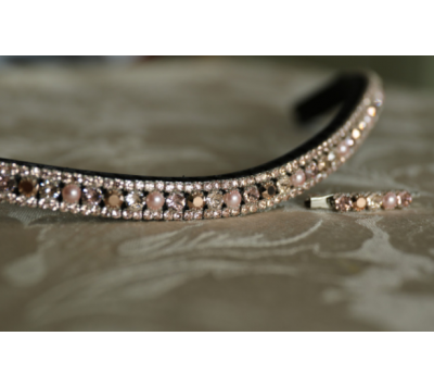 Equiture Swarovski Tiffany Rose Gold Browband