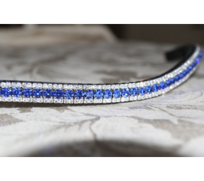 Equiture Sapphire & Clear Curve Browband