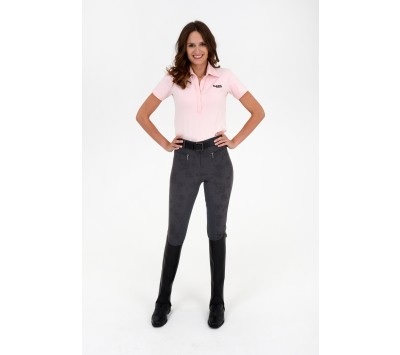 Rugged Ladies Grey Flower Full Seat Breeches