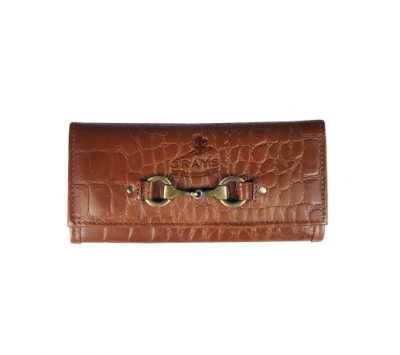Grays Lily Brown Croc Purse