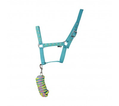 Hy Flamingo Head Collar and Lead Rope