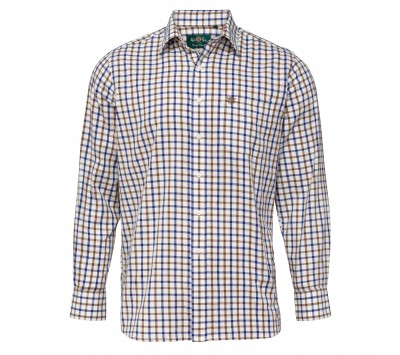 Alan Paine Ilkley Brown Country Check Shirt - Shooting Fit