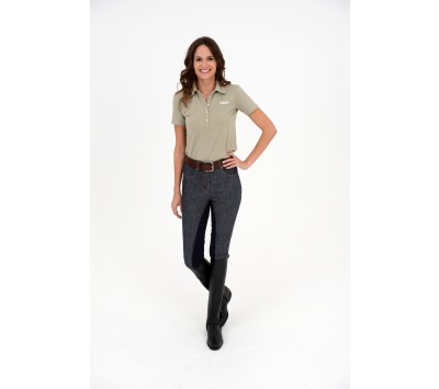Rugged Ladies Denim Breeches with Alos Seat