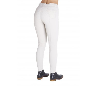 Montar Nora Yato Silver Leaves Full Silicone Seat Breeches