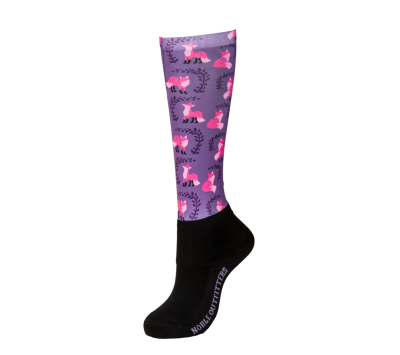 Noble Outfitters Girls Over the Calf Peddies - Purple Fox